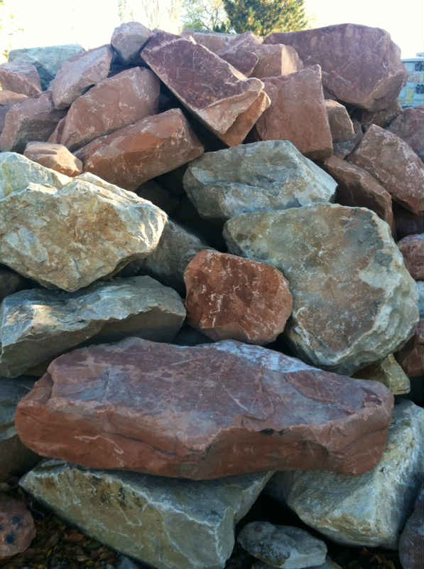 Riverton Utah Landscape Boulders Rocks